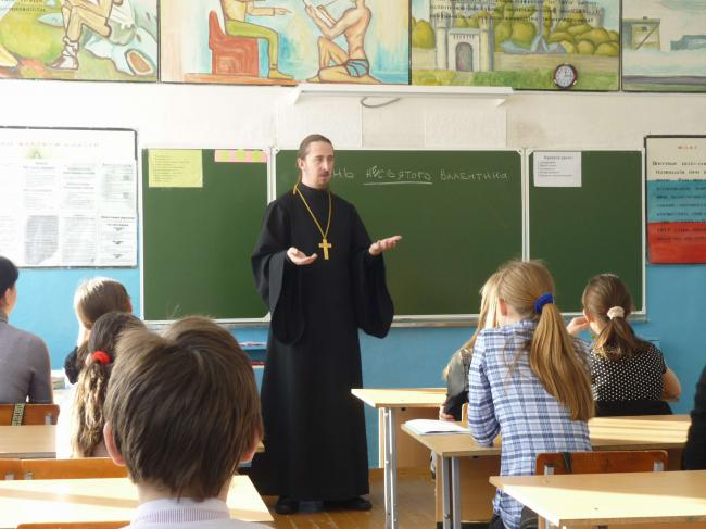 Урок в кваркенской школе