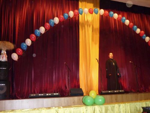 Поздравление настоятеля храма священника Владимира