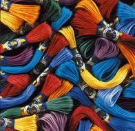 крученые нитки для вышивания