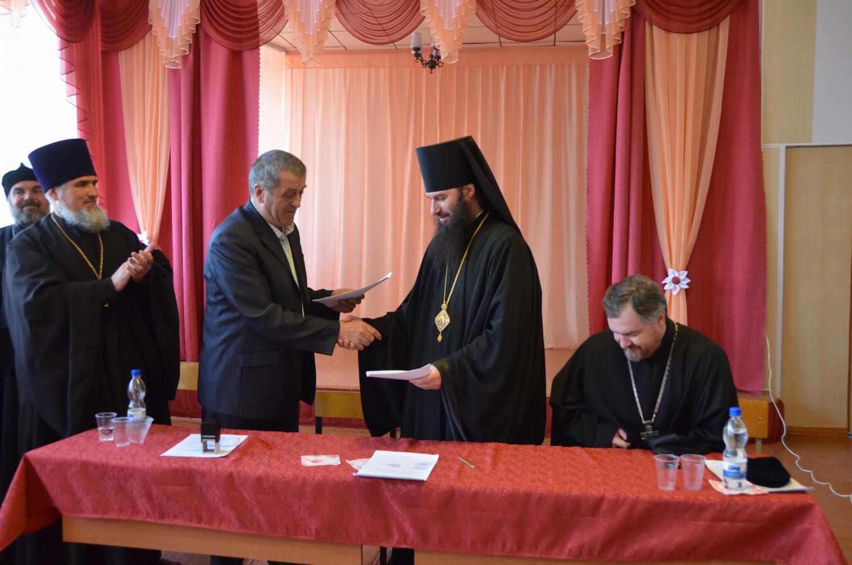 Встреча духовенства Орской епархии и работников Кваркенского РОО. Подписание соглашения