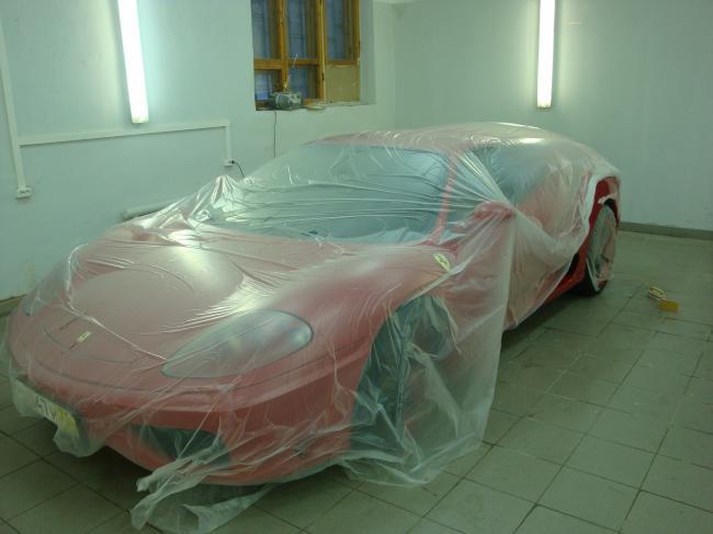 Ferrari - Подготовка автомобиля к ремонту